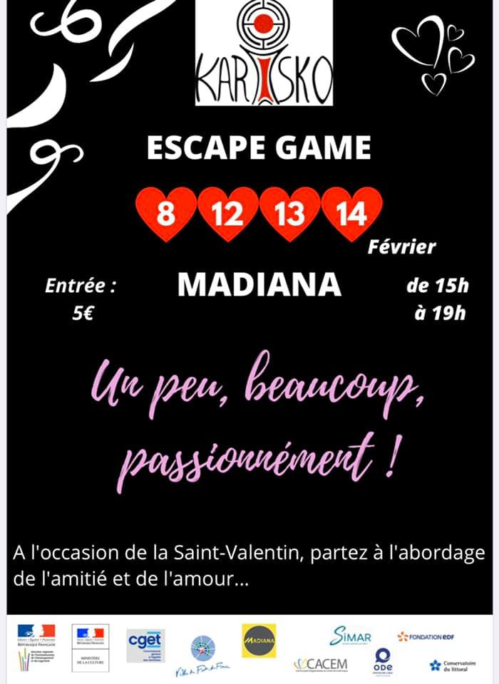 Escape game Madiana Saint valentin culture martinique